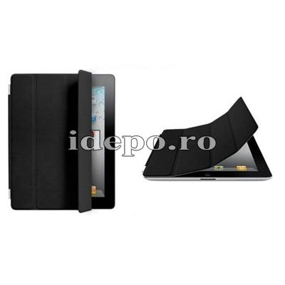 Husa iPad 3, iPad 4 <br> Smart Cover - Black <br> Functie hibernare