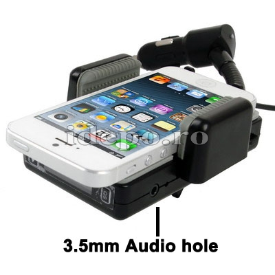 Car kit hands-free cu modulator FM iPhone 5, iPhone 6, Samsung Galaxy S4, S3