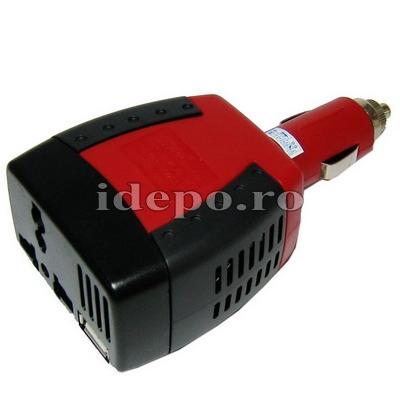 Invertor auto 220V, 200W si port USB <br>Accesorii iPhone 5