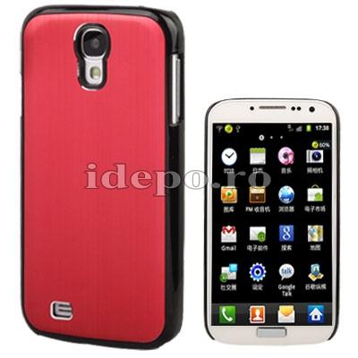 Husa Samsung Galaxy S4 i9500 <br> Sun Metal Cover Red<br> Accesorii Samsung Galaxy S4