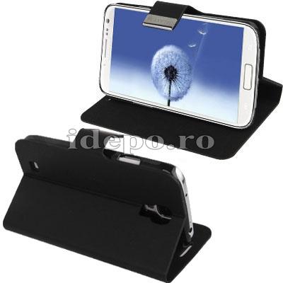Husa Samsung Galaxy S4 i9500 <br> Sun Office Black<br> Accesorii Samsung Galaxy S4