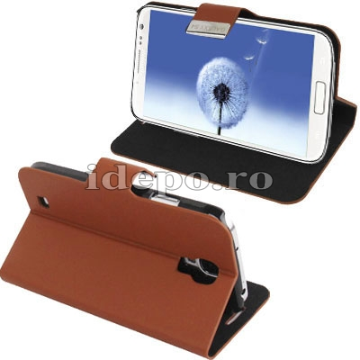 Husa Samsung Galaxy S4 i9500 <br> Sun Office Brown<br> Accesorii Samsung Galaxy S4