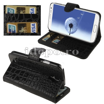 Husa Samsung Galaxy S4 i9500 <br> Sun Crocodile Black
