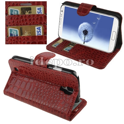 Husa Samsung Galaxy S4 i9500<br> Sun Crocodile Red