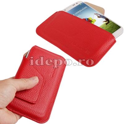 Husa Samsung Galaxy S4 i9500<br> Sun Elegance Red<br> Accesorii Samsung Galaxy S4