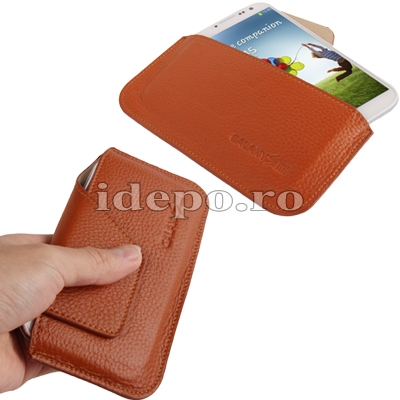 Husa Samsung Galaxy S4 i9500<br> Sun Elegance Brown<br> Accesorii Samsung Galaxy S4