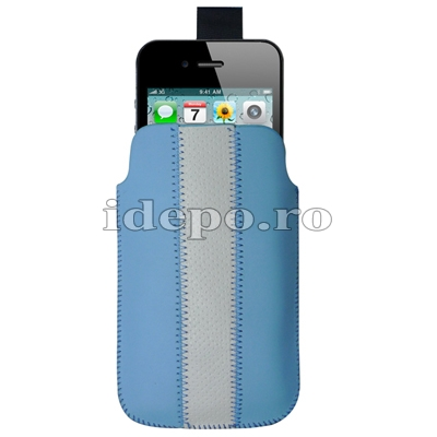Husa iPhone 4, 4S <br> Sun Vogue Blue<br> Accesorii iPhone