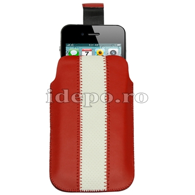 Husa iPhone 4, 4S <br>Sun Vogue Red<br> Accesorii iPhone