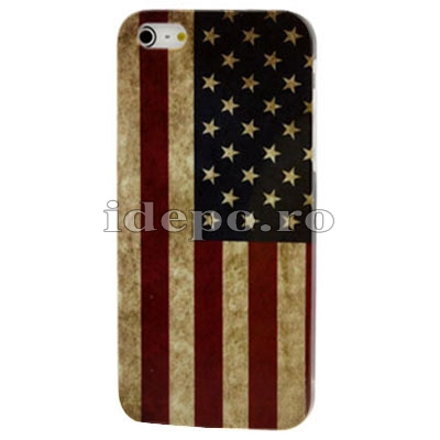 Husa iPhone 5, 5S<br>  Sun US Retro <br> Accesorii iPhone 5