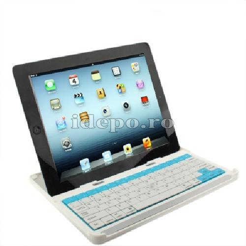 Tastaura aluminiu bluetooth iPad 4, iPad 3, iPad 2<br> Accesorii iPad