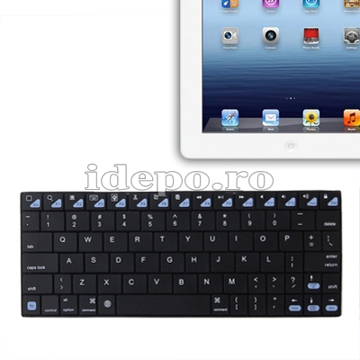 Tastatura Ultra Slim Bluetooth iPad 4, iPad 3, iPad 2, iPad Mini, iPhone, Samsung, Motorola
