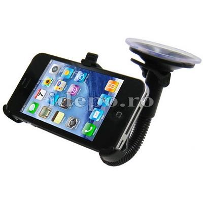 Suport auto iPhone 4, 4S <br> Auto + Clip curea <br> AccesoriiiPhone 4S