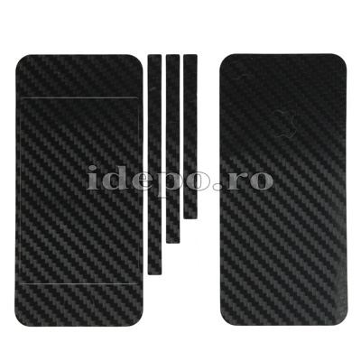 Folii carbon iPhone 5S, 5 <br>  Sun Carbon Black <br> Accesorii iPhone 5