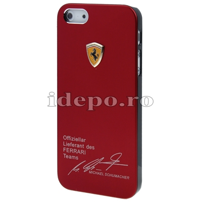 Husa iPhone 5S, 5  <br>  Ferrari Red Slim<br> Accesorii iPhone 5