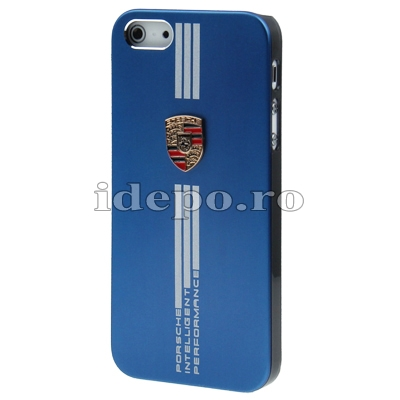 Husa iPhone 5S, 5<br> Porche Blue Slim <br> Accesorii iPhone 5