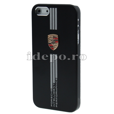 Husa iPhone 5, 5S  <br> Porche Black Slim<br> Accesorii iPhone 5