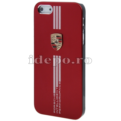 Husa iPhone 5S, 5  <br>  Porche Red Slim<br> Accesorii iPhone 5