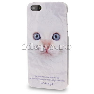 Husa iPhone 5S, 5  <br>  Cat<br> Accesorii iPhone 5