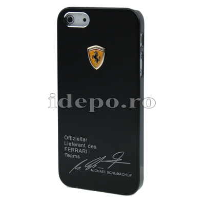Husa iPhone 5S, 5  <br> Ferrari Black Slim<br> Accesorii iPhone 5