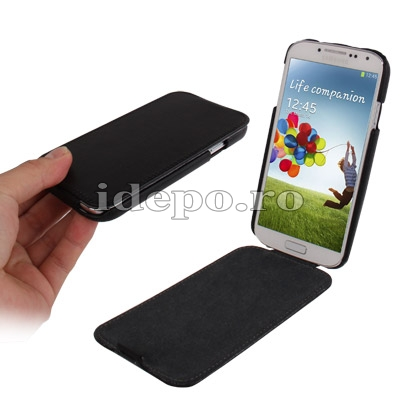 Husa Samsung Galaxy S4 i9500 <br> Jacka Leather Black<br> Accesorii Samsung Galaxy S4