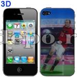 Folie protectie iPhone 4 , 4S<br> 3D Fotbal <br> Accesorii iPhone