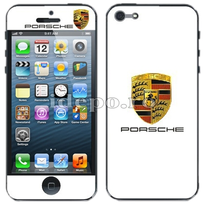 Folii protectie iPhone 5S, 5<br> Porche