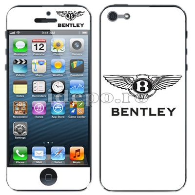Folii protectie iPhone 5S, 5 <br> Bentley