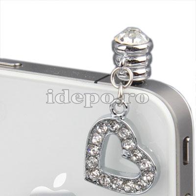 Protectie anti praf pentru conectorul audio iPhone, iPad <br> Sun