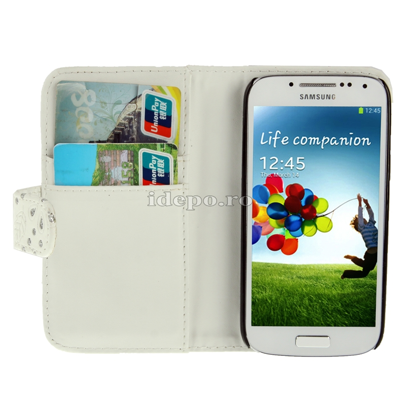 Husa  Samsung Galaxy S4 Mini i9190 <br>  Sun Diamonds White