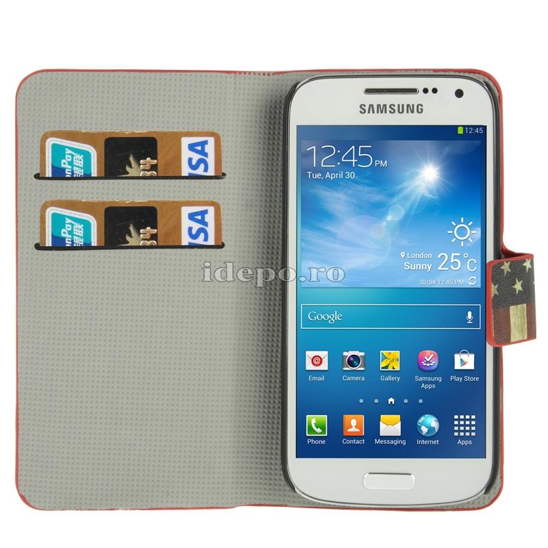 Husa  Samsung Galaxy S4 Mini i9190 <br>  Sun USA Vintage