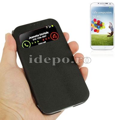 Husa  Samsung Galaxy S IV i9500 <br>  Sun Caller ID Black
