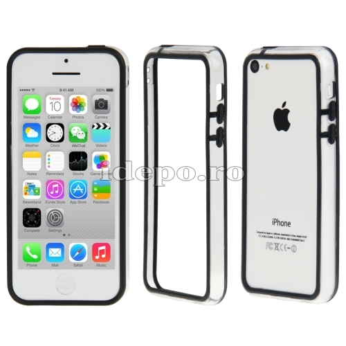 Bumper  iPhone 5C <br>  Sun Protect Black<br> Accesorii iPhone 5C