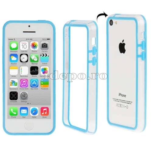 Bumper  iPhone 5C <br>  Sun Protect Blue<br> Accesorii iPhone 5C