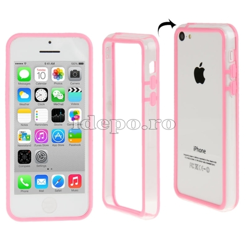 Bumper  iPhone 5C <br>  Sun Protect Pink<br> Accesorii iPhone 5C