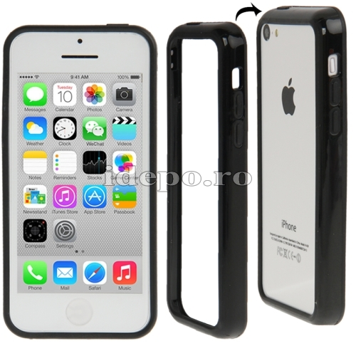 Bumper  iPhone 5C <br>  Sun Techno Black<br> Accesorii iPhone 5C