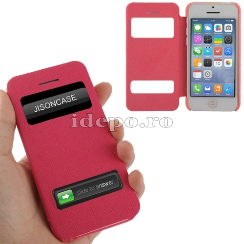 Husa  iPhone 5C <br> Call Plus Red<br> Accesorii iPhone 5C