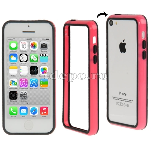 Bumper  iPhone 5C <br>  Sun Duo Pink<br> Accesorii iPhone 5C