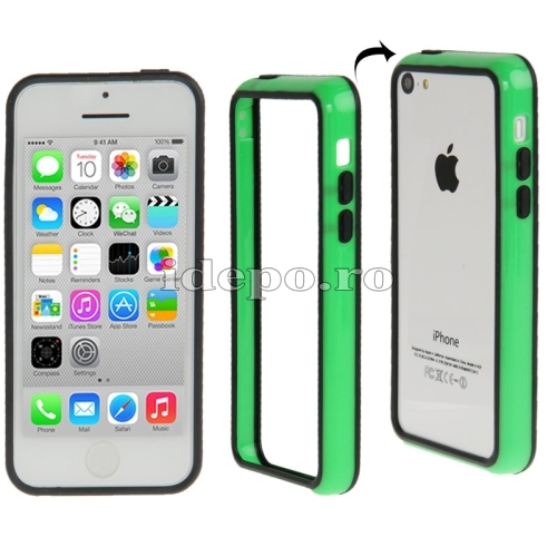 Bumper  iPhone 5C <br>  Sun Duo Green<br> Accesorii iPhone 5C