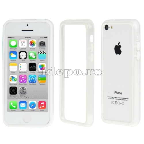 Bumper  iPhone 5C <br>  Sun Protect White<br> Accesorii iPhone 5C