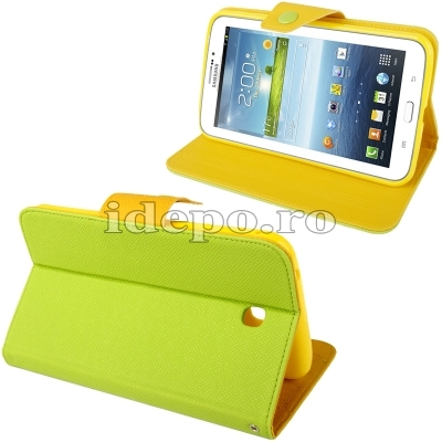 Husa Samsung Galaxy Tab 3 P3200, P3210 <br>  Crazy Horse Green
