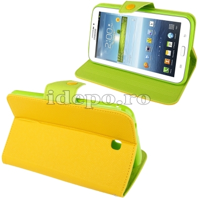 Husa Samsung Galaxy Tab 3 P3200, P3210 <br>  Crazy Horse  Yellow