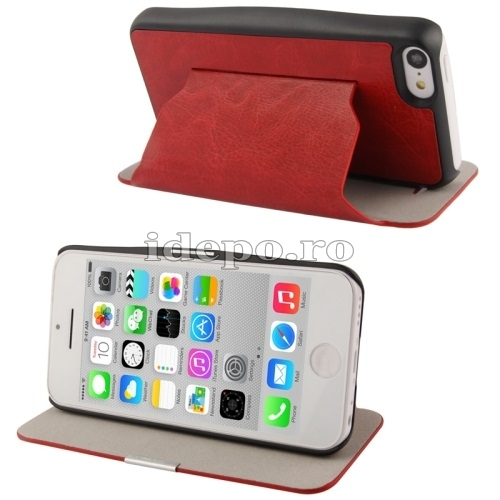 Husa  iPhone 5C <br>  Crazy Horse Red<br> Accesorii iPhone 5C