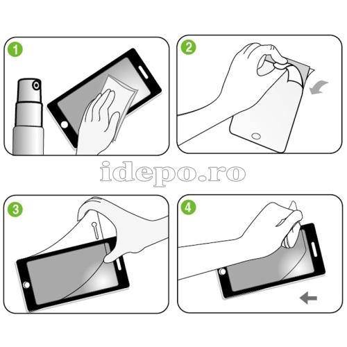 Folie protectie ecran iPhone 5C <br>Sun Japan Professional
