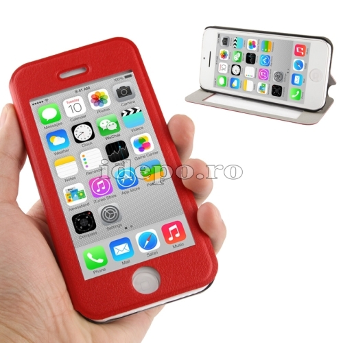 Husa iPhone 5C <br> Sun Vision Red <br> Accesorii iPhone 5C