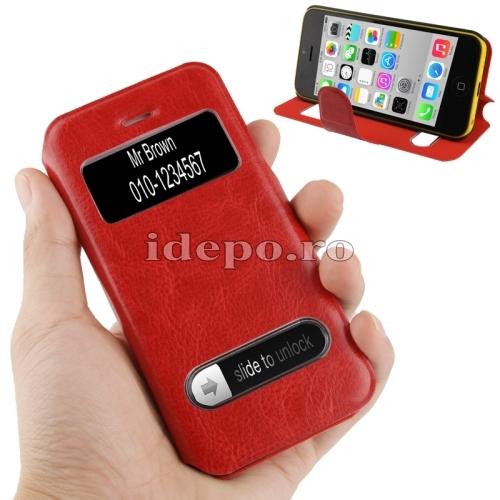 Husa iPhone 5C <br> Caller ID Red <br> Accesorii iPhone 5C