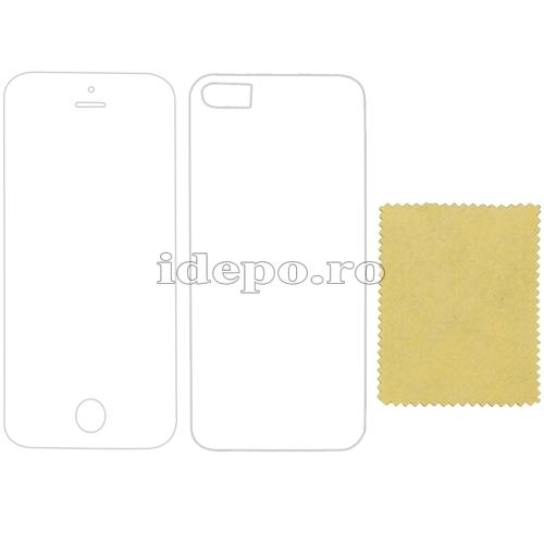 Folii fata/spate iPhone 5S, 5 <br> Sun Anti Reflex