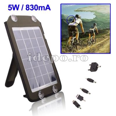 Incarcator solar universal 5V/830mAh