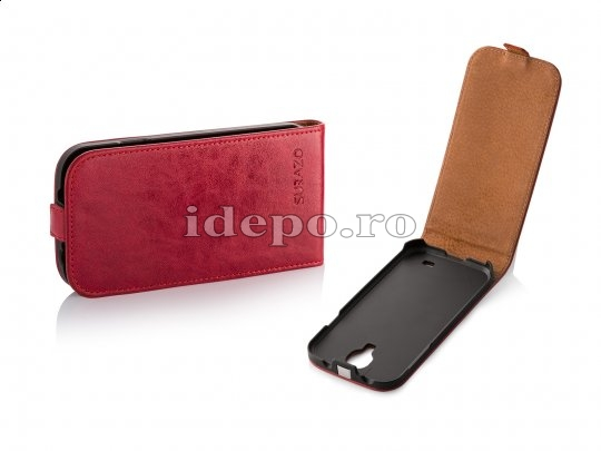Husa iPhone 5C <br> Surazo - HAND MADE <br> Piele Naturala  - RED