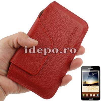 Husa Samsung Galaxy Note 4, Note 3 N9000, N9005<br> Sun Elegance Red