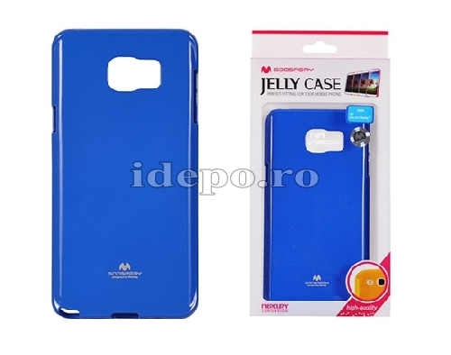 HUSE SILICON <BR>MERCURY JELLY <BR> GALAXY NOTE 5 - BLUE